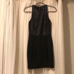 Armani black mini dress size 2. Used